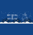 cartoon banner for holiday theme with fox on vector image