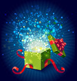 Cartoon Colorful Magic Gift Box Composition vector image vector image