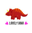 cartoon cute doodle dinosaur vector image