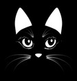 cat head animal for t-shirt sketch vector image vector image
