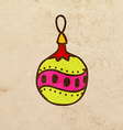 Christmas Bauble Cartoon vector image vector image