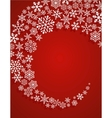 christmas red background with snowflakes pattern vector image vector image