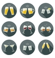 Clink glasses icons vector image