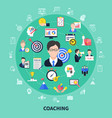 coaching and training concept vector image vector image
