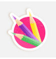 color pencils ready to print sticker offer or vector image