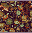 colorful seamless floral pattern wallpaper vector image vector image
