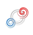 Colorful spiral vector image vector image