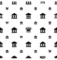 column icons pattern seamless white background vector image vector image