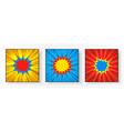 comic square bright explosive composition vector image vector image