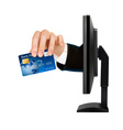 credit card with chip vector image vector image