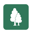 Deciduous forest icon vector image vector image