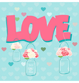 Declaration of Love card design vector image vector image
