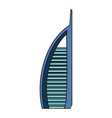 dubai skyscraper tower vector image