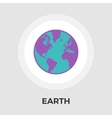 Earth flat icon vector image vector image