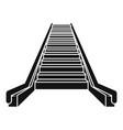 escalator icon simple style vector image