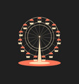 ferris wheel attraction from the amusement park vector image vector image