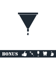 Filter funnel icon flat vector image