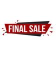 final sale banner design vector image vector image