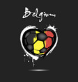 flag of belgium in the form of a heart vector image vector image