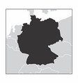 germany dark silhouette vector image