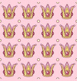 girlish seamless pattern vector image vector image