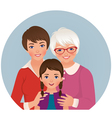Grandmother mother and daughter vector image vector image