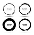 hand drawn circle brush brush circular smears vector image
