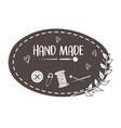 hand made sewing frame with accessories vector image vector image