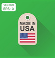 hang tag made in usa with flag icon business vector image vector image