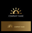 home gold realty company logo vector image vector image