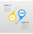 horizontal steps timeline infographics circle vector image vector image