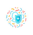 immune system round concept simple icon vector image vector image