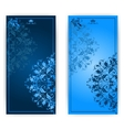 invitation card with blue ornament vector image vector image