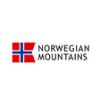 logotype template for tours to norwegian mountains vector image vector image