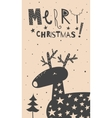 Merry Christmas deer card vector image vector image