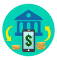 Mobile Banking Icon Flat style Isolated in vector image vector image