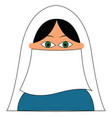 muslim woman on white background vector image