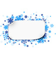 Paper note over snowflakes vector image