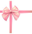 pink bow for packing gifts realistic vector image vector image