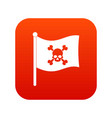 pirate flag icon digital red vector image vector image