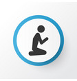 prayer icon symbol premium quality isolated man vector image