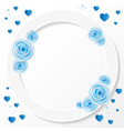 ring composition with blue rose for greeting card vector image