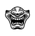 samurai half mask in vector image vector image