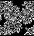 seamless monochrome pattern of flowers vector image vector image