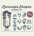 set landscape shapes icons or labels vector image vector image