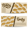 set of bakery banner templates isolated on white vector image vector image