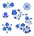set of isolated ornament elements in traditional vector image vector image