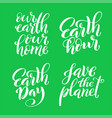 set quotes for earth day template for poster vector image