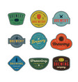 set vintage brewery logos vector image