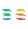 six colorful ribbons banners isolated ribbons vector image